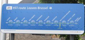 la HST-Route reliant Bruxelles à Louvain