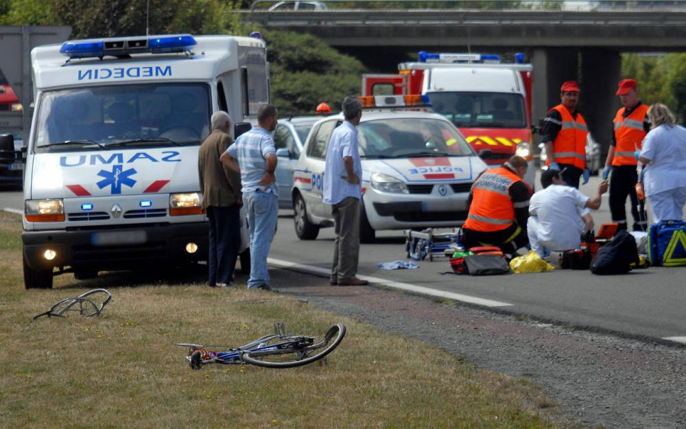 accident cycliste
